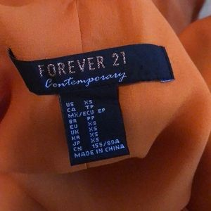 Forever 21 Tops - 🍭Orange Forever 21 contemporary top